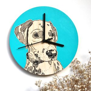 Bespoke Pet Portrait Clocks - dining room