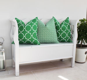 Fitzgerald Linen Cushion In Green - cushions