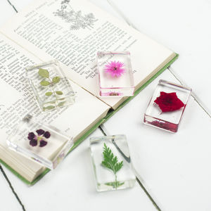 Flowers In Resin, Set Of Five - ornaments