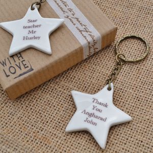 Teacher's Personalised Key Ring Gift