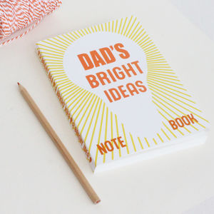 Personalised 'Bright Ideas' Notebook - personalised gifts for her