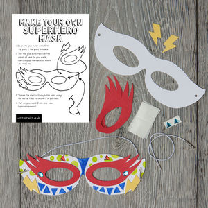 Make Your Own Superhero Mask Kit - not lacking in imagination