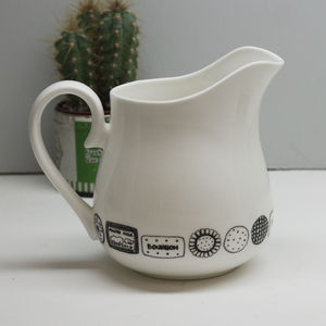 Illustrated Biscuit Jug