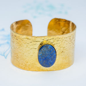 Chunky Blue Lapis Lazuli Cuff - party wear & accessories