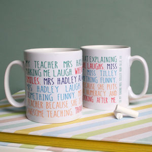 Personalised My Teacher Mug - gifts for teachers