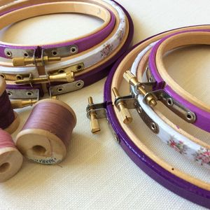 Hand Decorated Embroidery Hoop Set