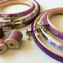 Hand Decorated Embroidery Hoops For Stitchers