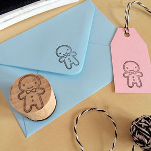 Cookie Cute Gingerbread Man Polymer Stamp - stamps & inkpads