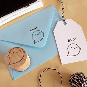 Little Ghost Polymer Stamp - stationery & desk accessories