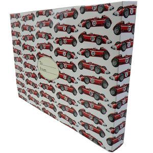 Birthday Boy Racing Cars Gift Box - ribbon & wrap