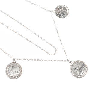 Victorian Triple Lucky Coin Necklace