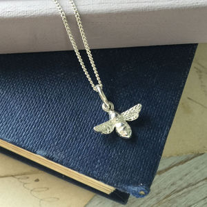 Bumble Bee Necklace In Sterling Silver - necklaces & pendants