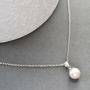 Silver And Pearl Necklace - necklaces & pendants