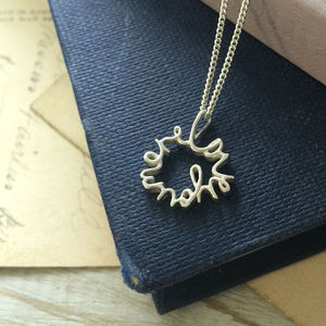 'Love You More' Necklace In Silver And Gold - necklaces & pendants