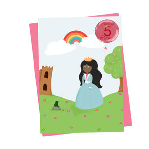 Personalised Princess Badge Card - birthday cards