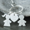 Personalised Sterling Silver Person Keyring