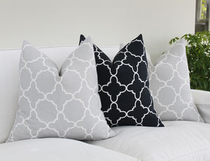 Fitzgerald Linen Cushion In Noir