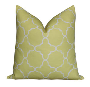 Fitzgerald Linen Cushion In Lemon Grass - patterned cushions