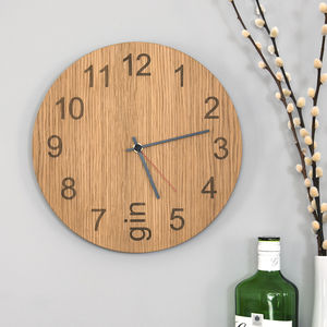 Gin O'clock Clock - bedroom