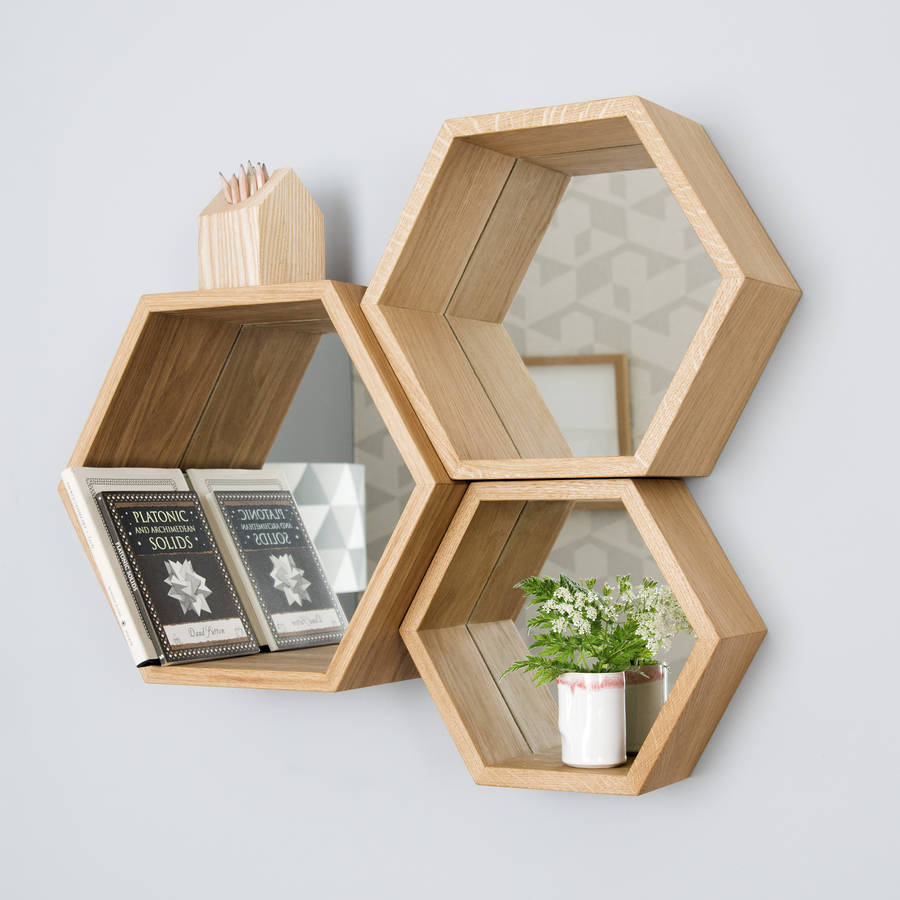 Hexagon Mirror Shelves By James Design