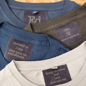 Personalised Neck Label - men's fashion