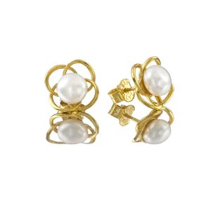 Pearl Earrings Pearl Flower Gold Earrings Gift For Her