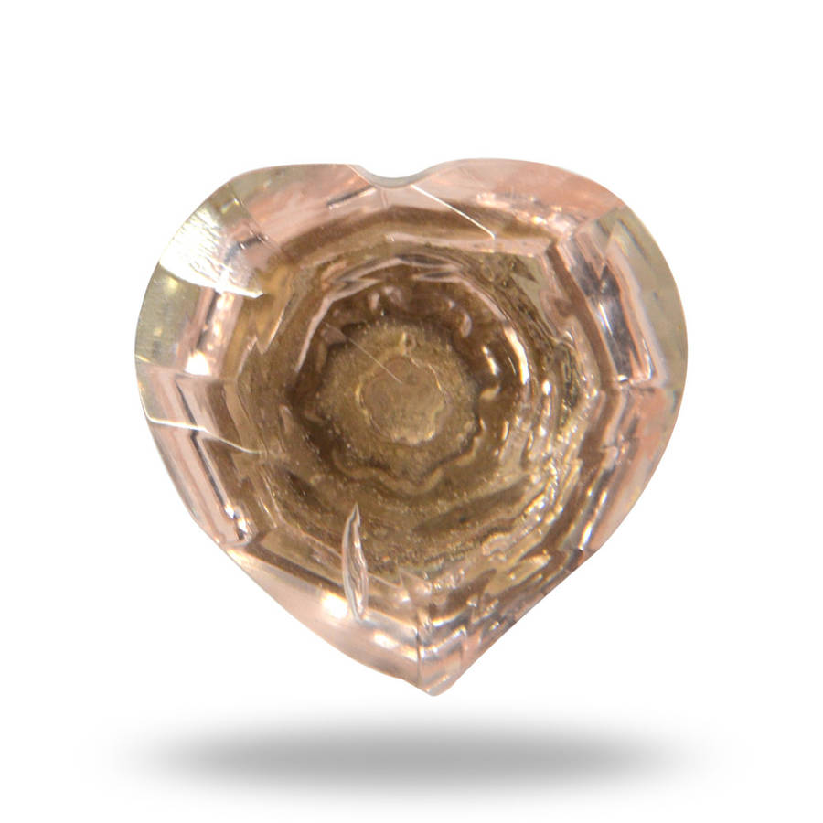 Glass Heart Knob Holly Pink