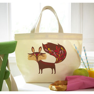 Foxy Canvas Lunch Bag - view all sale items