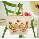 Tweet Canvas Lunch Totes