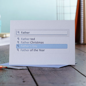 Search Bar Father's Day Card