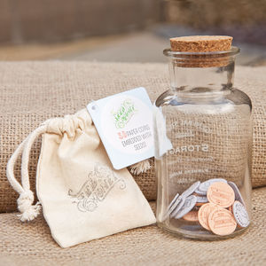 'Seed Money' Paper Coins With Seeds - valentine's gifts for him