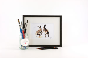 Hare Print, Southpaws - contemporary art
