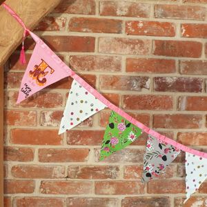 'Ampersand' Embroidered Bunting - garden sale