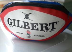 Licensed Personalised England Rugby Ball Wash Bag