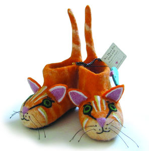 Children's Ginger The Farm Cat Slippers