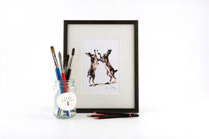 Hare Print, Right Hook - animals & wildlife