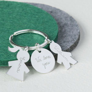Personalised Sterling Silver Person Key Ring - gifts for grandparents