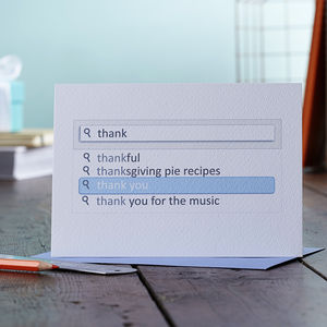 Search Bar Thank You Card