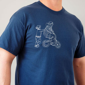 Pushing Daddy On My Bike T Shirt - gifts for fathers