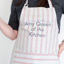 Personalised Malvern Grey Red Organic Apron