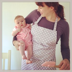 Personalised Madelaine Lavender Organic Apron - aprons