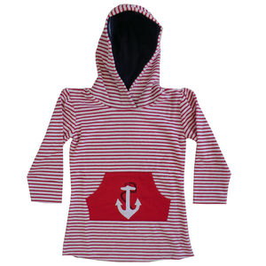 Anchor Towelling Hooded Top