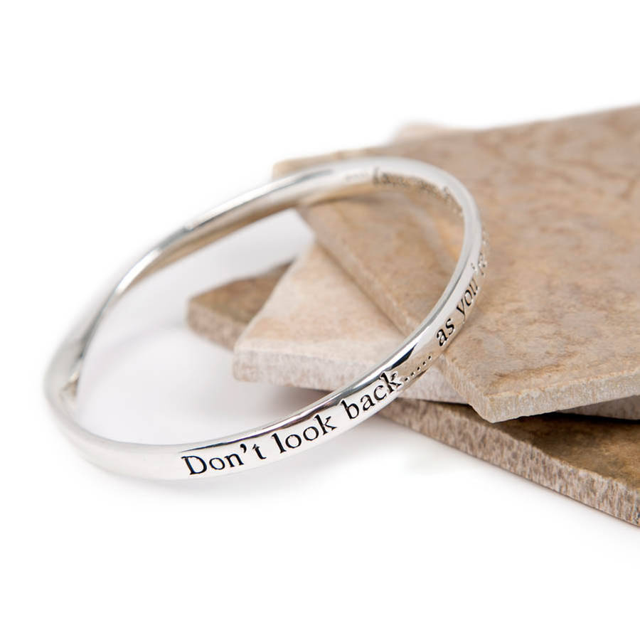 lovethelinks look inspirational bangle plated by message notonthehighstreet com bracelet original product silver back