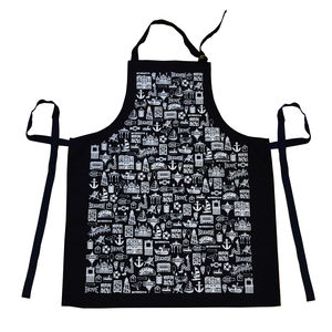 Illustrated Brighton Apron - cooking & food preparation