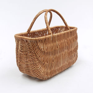 Wicker Shopping Basket / Two Handles