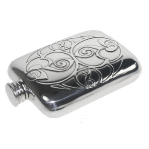 Celtic Spirals Hip Flask - mens