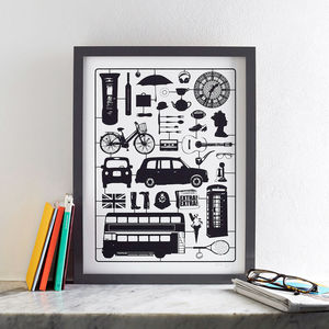 Airfix London Screen Print Small - summer sale