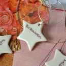 Set Of Five Personalised Star Glass Charms