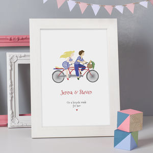 Personalised 'Bicycle Made For Two' Print