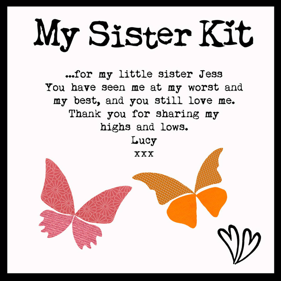 personalised sister kit keepsake box